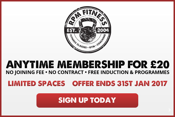 Anytime Membership for £20 - NO Joining Fee • NO Contract • Free induction & Programmes - Limited Spaces, Offer Ends 31st Jan 2017 - Sign up Today
