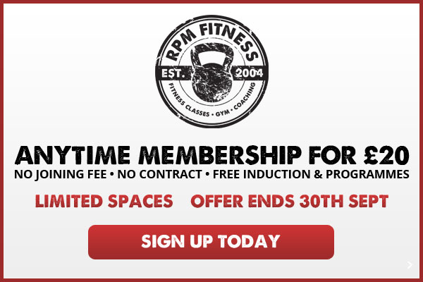 Limited Spaced - Anytime Membership for £20 - NO Joining Fee • NO Contract • Free induction & Programmes - Sign up Today