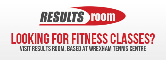 Looking for fitness classes? Visit Results Room, based at Wrexham Tennis Centre - Find out more